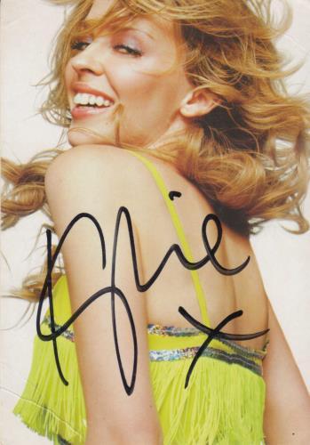 Kylie Minogue I Believe In You - Autographed Postcard memorabilia UK KYLMMIB713468