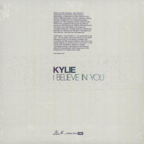 "Kylie Minogue I Believe In You CD single (CD5 / 5"") UK KYLC5IB311709"