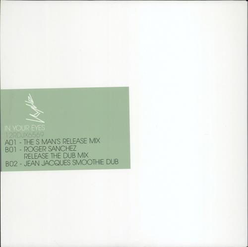 """Kylie Minogue In Your Eyes 12"""" vinyl single (12 inch record / Maxi-single) UK KYL12IN205534"""