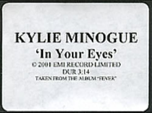 Kylie Minogue In Your Eyes video (VHS or PAL or NTSC) UK KYLVIIN209537