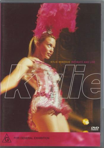 Kylie Minogue Intimate And Live DVD Australian KYLDDIN215641