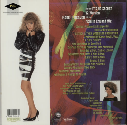 "Kylie Minogue It's No Secret 12"" vinyl single (12 inch record / Maxi-single) US KYL12IT21377"