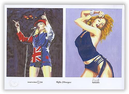 Kylie Minogue Limited Edition Print - 250 Only artwork US KYLARLI397462