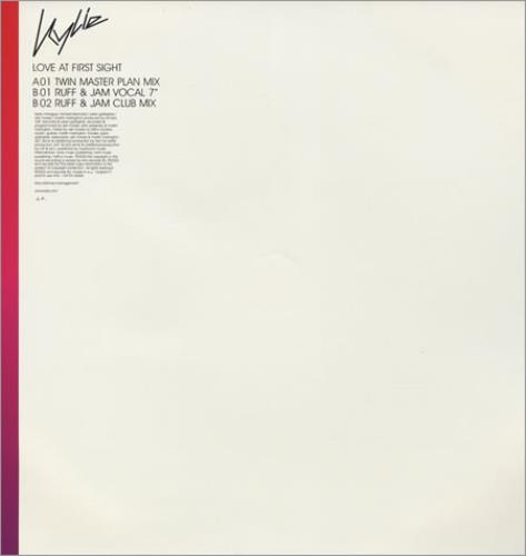 "Kylie Minogue Love At First Sight - Twin Master Plan Mix 12"" vinyl single (12 inch record / Maxi-single) UK KYL12LO215219"