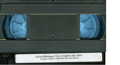 Kylie Minogue On A Night Like This video (VHS or PAL or NTSC) UK KYLVION191761