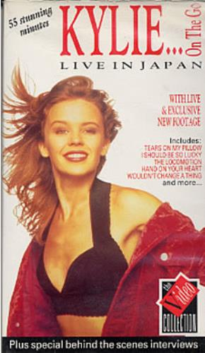 Kylie Minogue On The Go... Live In Japan video (VHS or PAL or NTSC) UK KYLVION13087