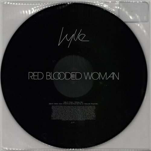 "Kylie Minogue Red Blooded Woman 12"" vinyl picture disc 12inch picture disc record UK KYL2PRE274401"