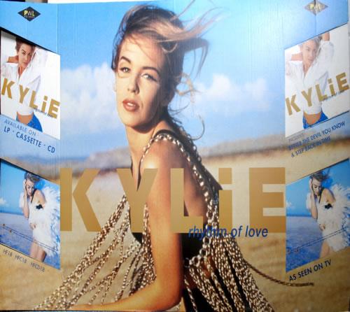 Kylie Minogue Rhythm Of Love display UK KYLDIRH605578