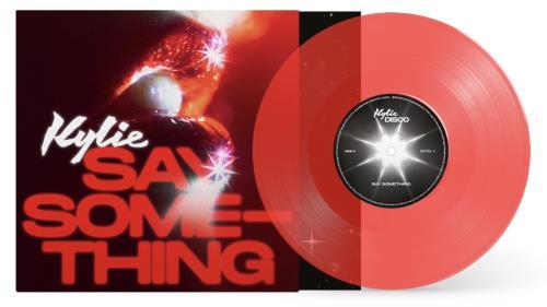 "Kylie Minogue Say Something - Red Vinyl 7"" vinyl single (7 inch record) UK KYL07SA756459"