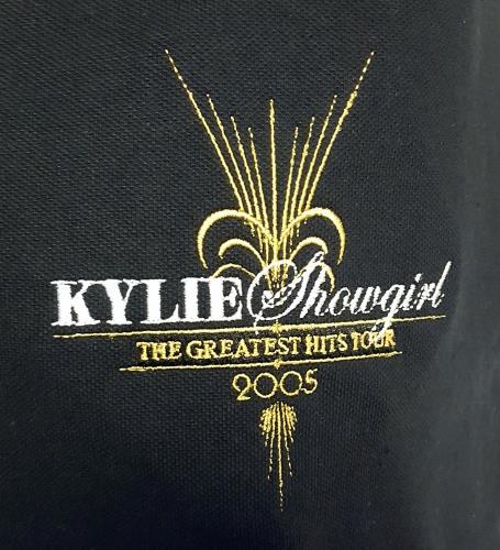 Kylie Minogue Showgirl The Greatest Hits Tour - Crew - Capital Sound Black Polo shirt - Medium t-shirt UK KYLTSSH672379