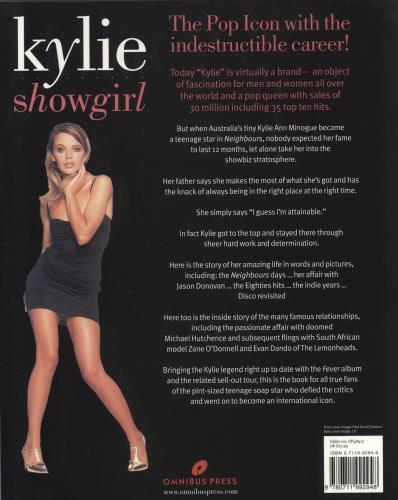 Kylie Minogue Showgirl book UK KYLBKSH225199