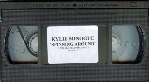 Kylie Minogue Spinning Around video (VHS or PAL or NTSC) UK KYLVISP209539