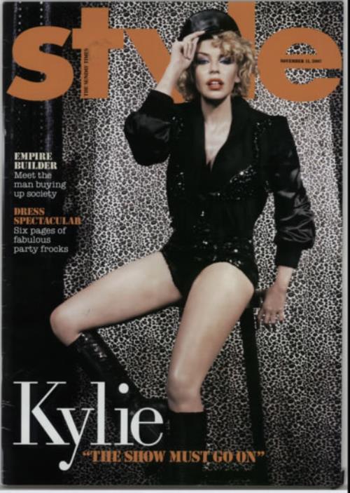 Kylie Minogue Style Magazine magazine UK KYLMAST606222