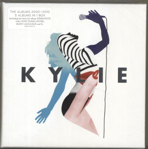 Kylie Minogue The Albums 2000 - 2010 - Promo Stickered CD Album Box Set UK KYLDXTH700514