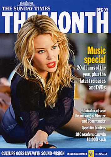 Kylie Minogue The Month - from The Sunday Times newspaper Dec '03 CD-ROM UK KYLROTH274763