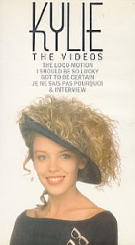 Kylie Minogue The Videos video (VHS or PAL or NTSC) UK KYLVITH54348