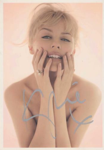 Kylie Minogue X - Postcard - Silver Autographed memorabilia UK KYLMMXP713683