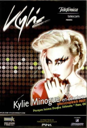 Kylie Minogue X 2008 - En Concierto Halloween Fest poster Colombian KYLPOXE452163