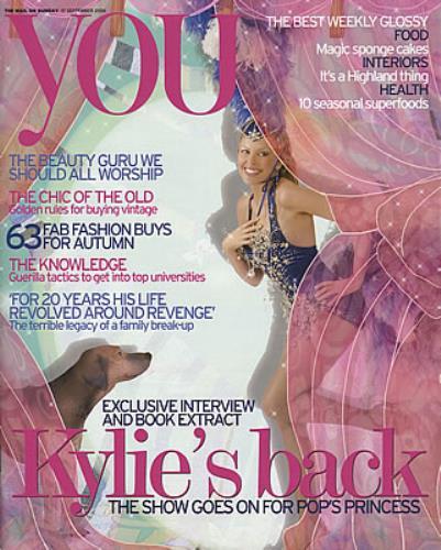 Kylie Minogue You Magazine magazine UK KYLMAYO376814