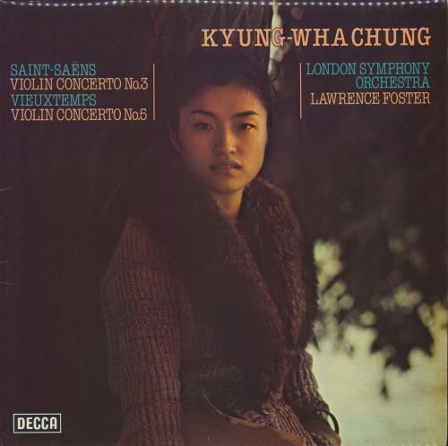 Kyung-Wha Chung Saint-Saens Violin Concerto No. 3 vinyl LP album (LP record) UK KY0LPSA525375