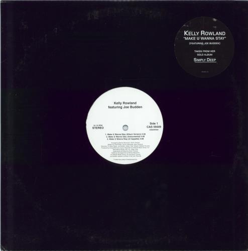 "Kelly Rowland Make U Wanna Stay 12"" vinyl single (12 inch record / Maxi-single) US KLW12MA230291"