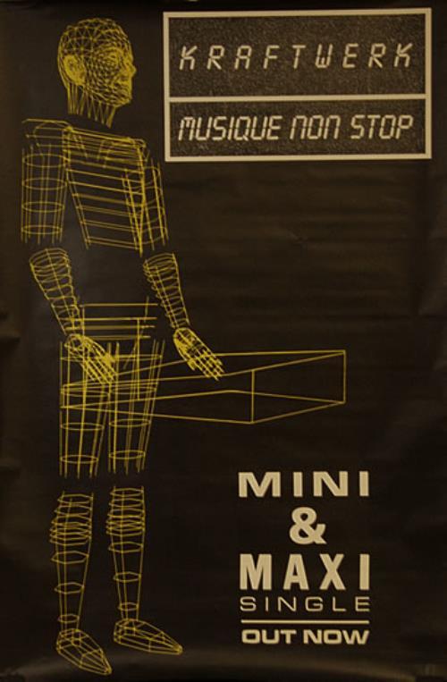 Kraftwerk Musique Non Stop poster UK KRAPOMU492483