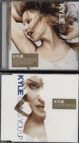 Kylie Minogue Giving You Up + Poster 2-CD single set (Double CD single) UK KYL2SGI319646