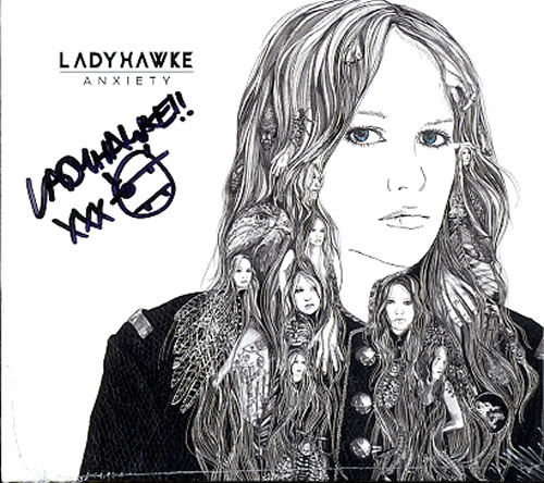 Ladyhawke Anxiety - Autographed CD album (CDLP) UK LHKCDAN621031