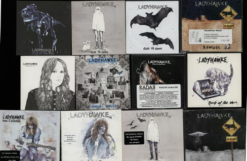 Ladyhawke Quantity Of 27 CD'S, Singles & Promo's 6-CD album set UK LHK6CQU632148