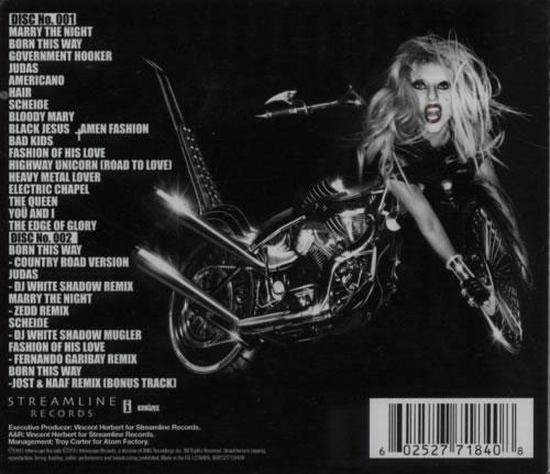 Lady Gaga Born This Way UK 2 CD album set (Double CD)