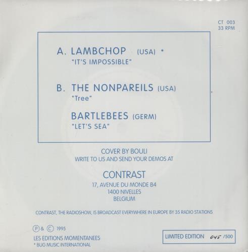"Lambchop Spit Single Club 7"" vinyl single (7 inch record) Belgian LHM07SP758431"