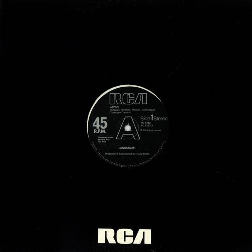 "Landscape Japan 12"" vinyl single (12 inch record / Maxi-single) UK L-S12JA497217"