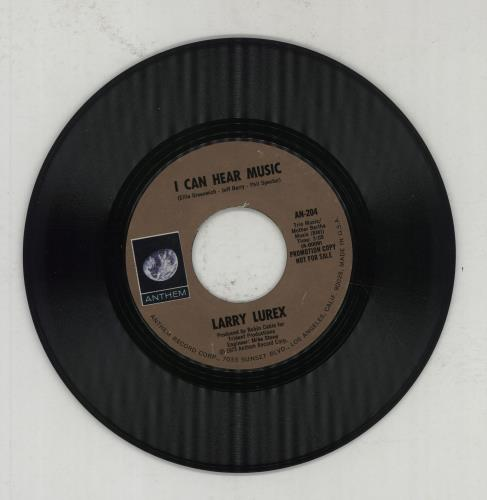 "Larry Lurex I Can Hear Music 7"" vinyl single (7 inch record) US LAR07IC548275"