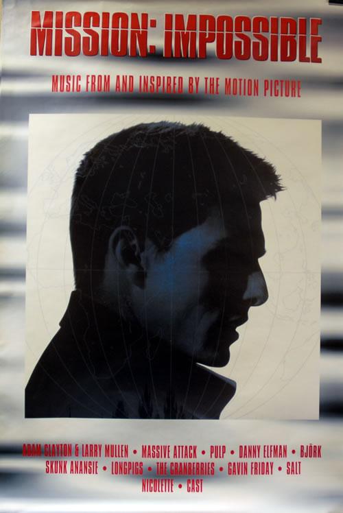 Larry Mullen & Adam Clayton Mission Impossible poster UK LMUPOMI634131