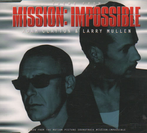 """Larry Mullen & Adam Clayton Theme From Mission:  Impossible CD single (CD5 / 5"""") UK LMUC5TH70506"""