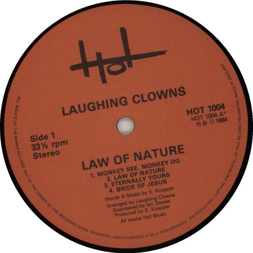 Laughing Clowns Law Of Nature vinyl LP album (LP record) UK LB8LPLA681789