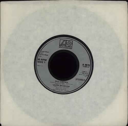 "Laura Branigan Self Control 7"" vinyl single (7 inch record) UK BRA07SE679472"