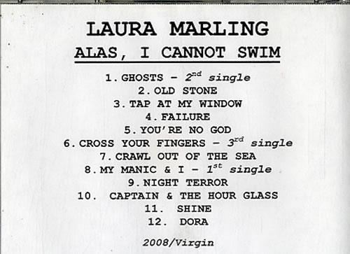 Laura Marling Alas, I Cannot Swim CD-R acetate US LMLCRAL629494