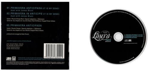 "Laura Pausini Primavera Anticipada (It Is My Song) - with James Blunt CD single (CD5 / 5"") Colombian LUPC5PR475234"