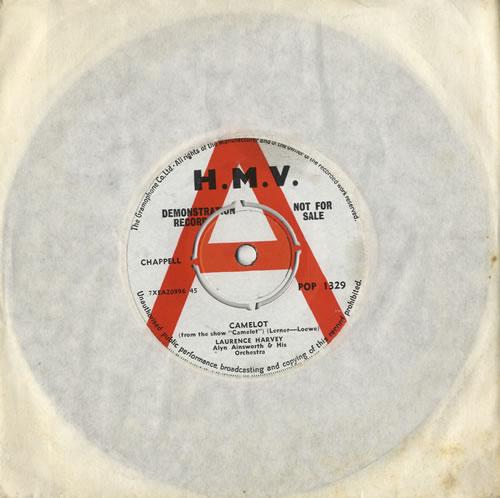"Laurence Harvey Camelot 7"" vinyl single (7 inch record) UK LHY07CA474312"