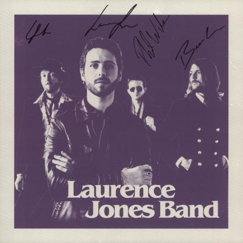 Laurence Jones Band Laurence Jones Band - Purple Vinyl + Autographed vinyl LP album (LP record) UK 023LPLA739671