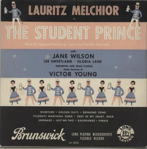 """Lauritz Melchior The Student Prince 10"""" vinyl single (10"""" record) UK OY810TH671423"""