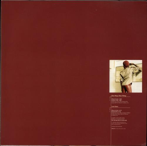 "Lauryn Hill Doo Wop (That Thing) 12"" vinyl single (12 inch record / Maxi-single) UK L-H12DO702570"