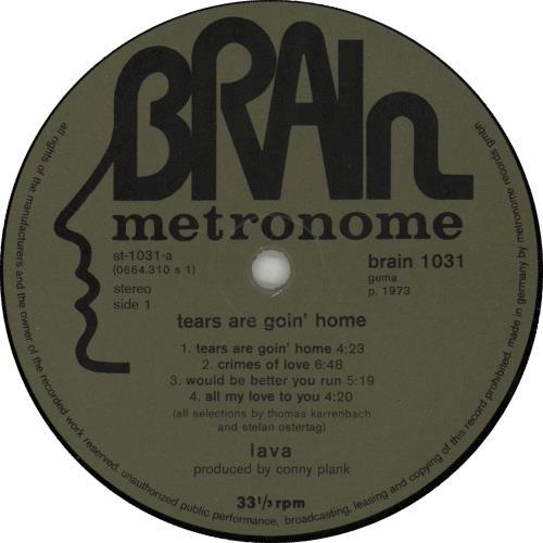 Lava Tears Are Goin' Home vinyl LP album (LP record) German OXVLPTE670607