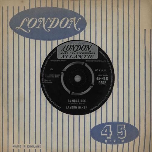 "LaVern Baker Bumble Bee 7"" vinyl single (7 inch record) UK LVK07BU570420"