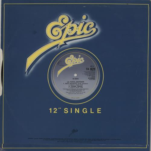 """La Toya Jackson Hot Potato 12"""" vinyl single (12 inch record / Maxi-single) UK TOY12HO759708"""