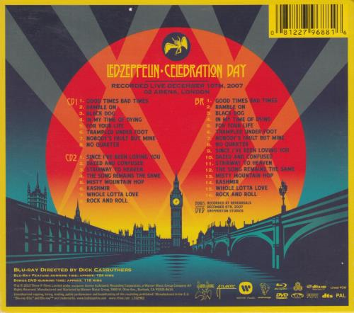 Led Zeppelin Celebration Day 3-disc CD/DVD Set UK ZEP3DCE574009