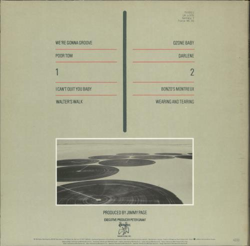 Led Zeppelin Coda - 1st vinyl LP album (LP record) UK ZEPLPCO691462