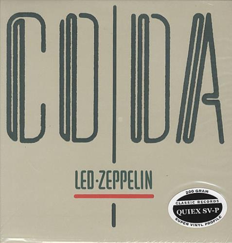 Led Zeppelin Coda - 200gm vinyl LP album (LP record) US ZEPLPCO329624