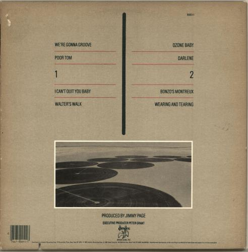 Led Zeppelin Coda - EX vinyl LP album (LP record) US ZEPLPCO525441